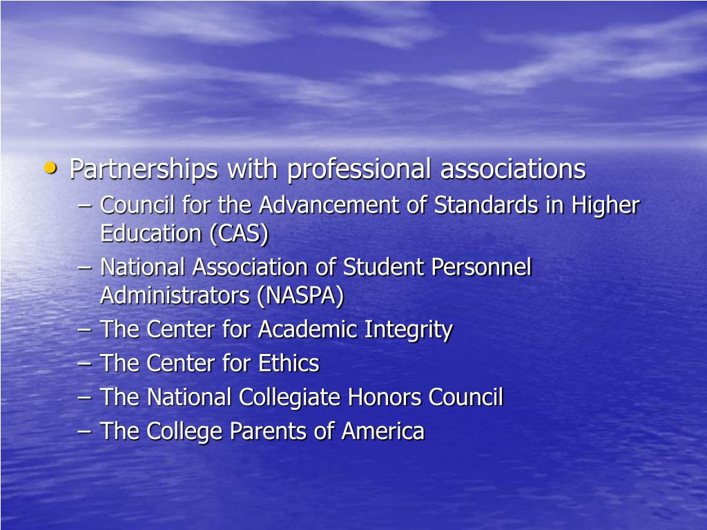 Partnerships with professional associations