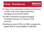 m pesa remittances