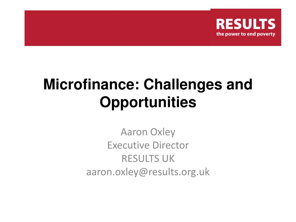 microfinance challenges and opportunities l.
