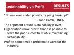 sustainability vs profit