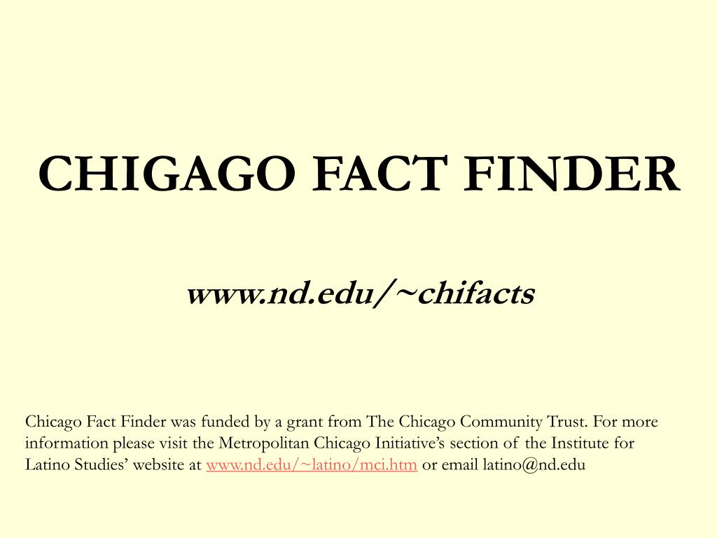 CHIGAGO FACT FINDER