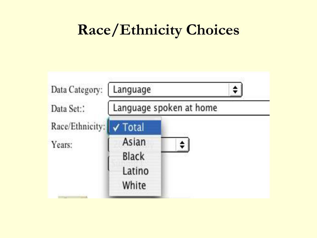 Race/Ethnicity Choices
