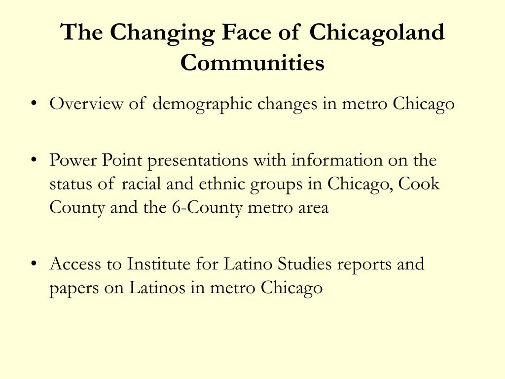 The Changing Face of Chicagoland Communities