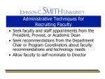 administrative techniques for recruiting faculty