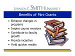 benefits of mini grants