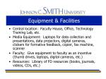 equipment facilities