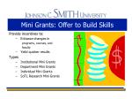 mini grants offer to build skills