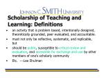 scholarship of teaching and learning definitions