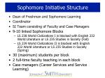 sophomore initiative structure