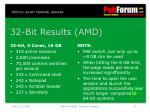 32 bit results amd