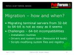 migration how and when