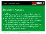 registry access