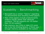 scalability benchmarking