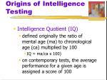 origins of intelligence testing5