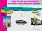 using cellular and broadband wireless access networks together