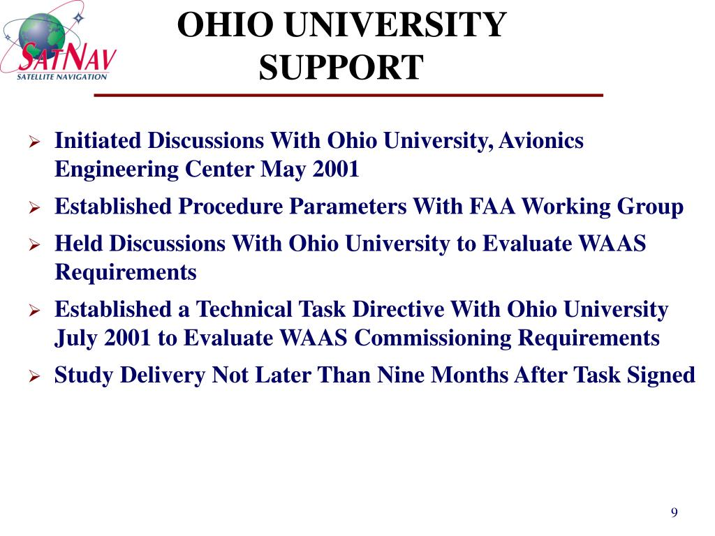 OHIO UNIVERSITY SUPPORT