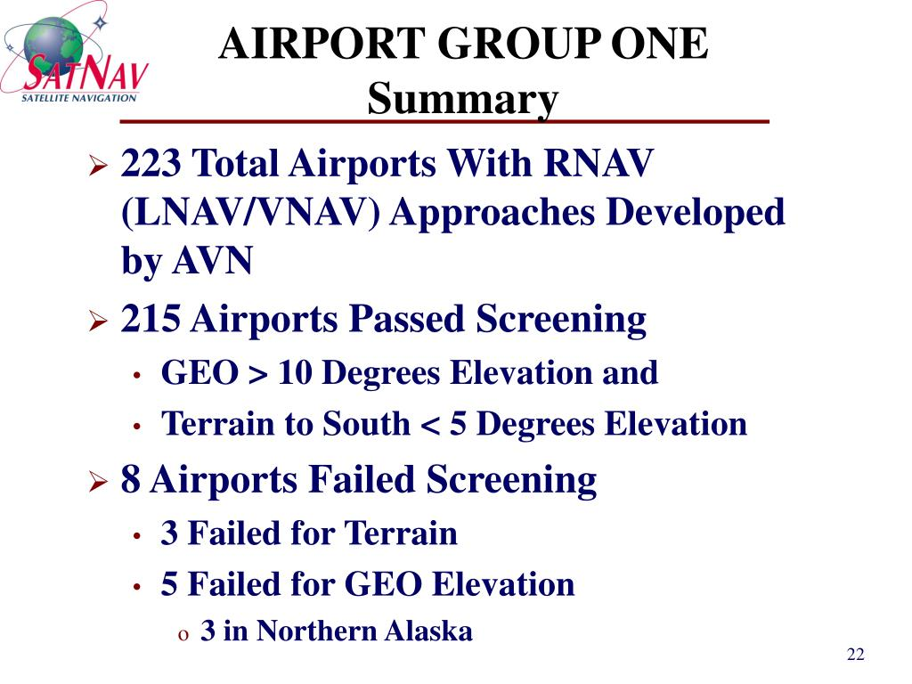 AIRPORT GROUP ONE