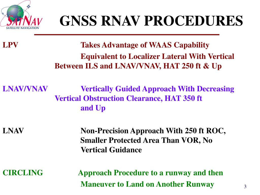 GNSS RNAV PROCEDURES