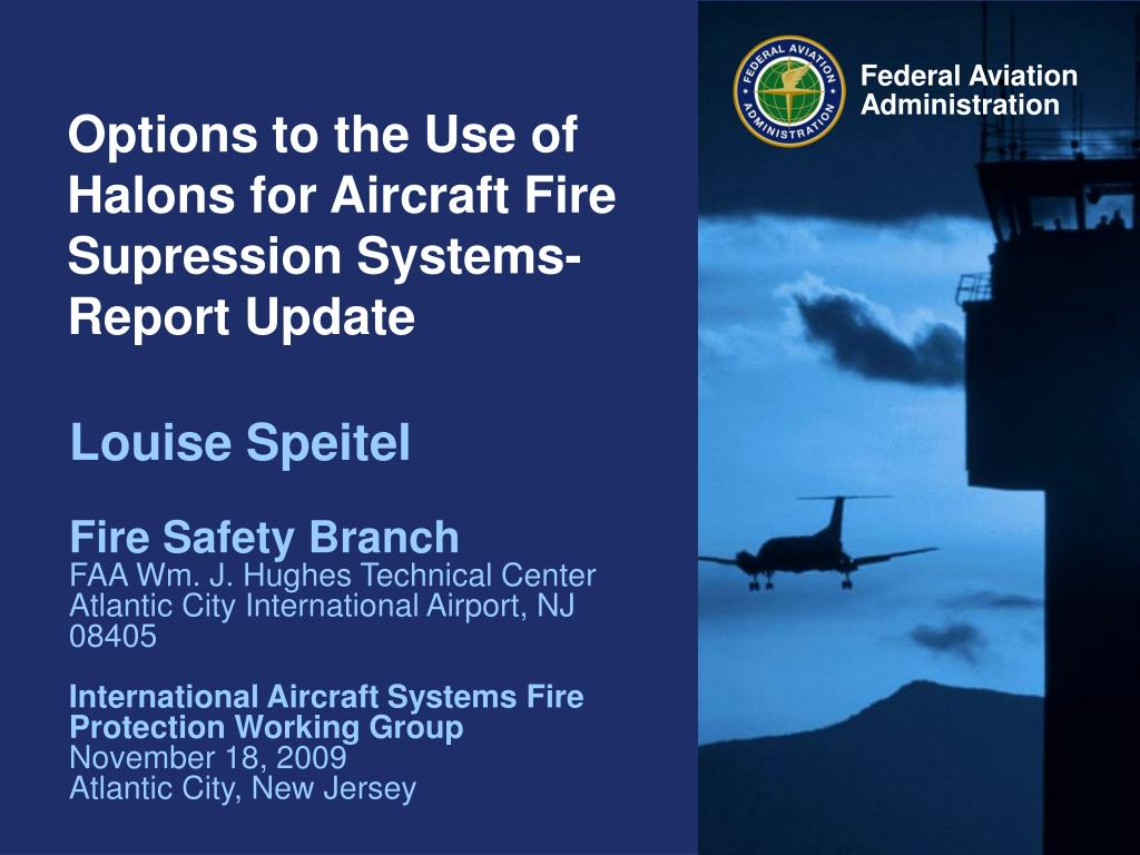 options to the use of halons for aircraft fire supression systems report update l.