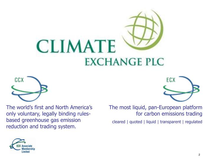 The world's first and North America's only voluntary, legally binding rules-based greenhouse gas...