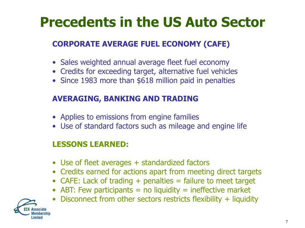 Precedents in the US Auto Sector
