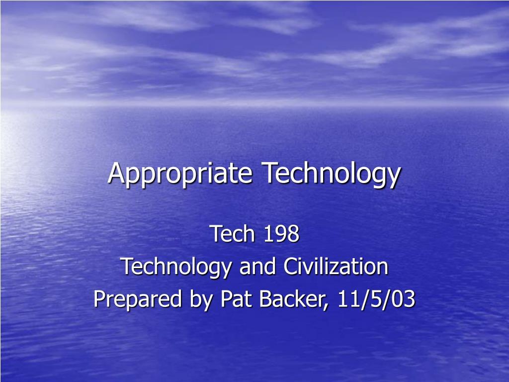 appropriate technology l.