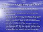 examples of renewable energy the ocean