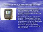 practices used in sustainable agriculture26