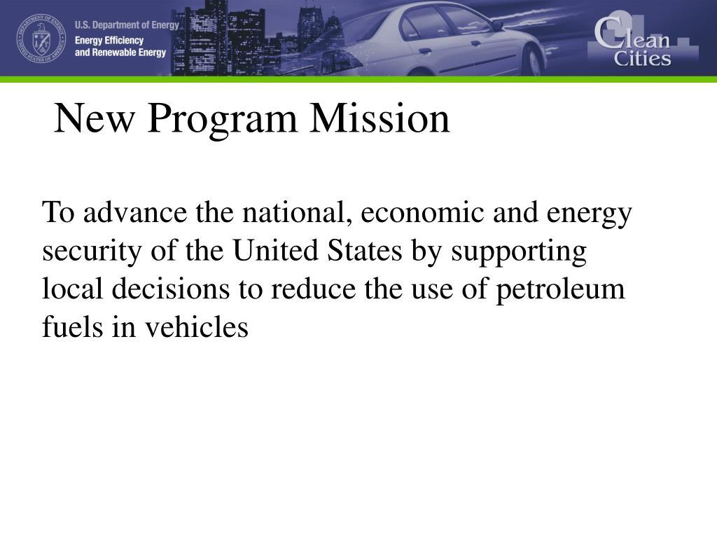 New Program Mission