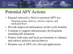 potential afv actions