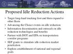 proposed idle reduction actions