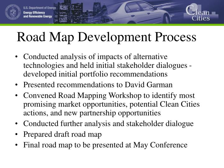 Road map development process