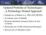updated portfolio of technologies a technology neutral approach