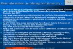 more information on reducing dental mercury 1