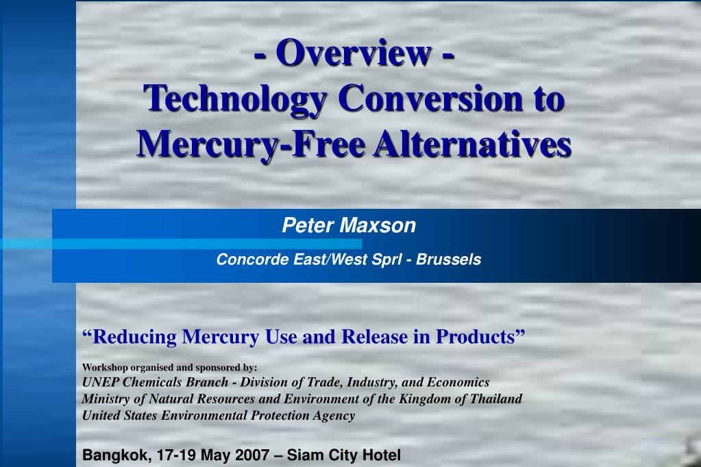 overview technology conversion to mercury free alternatives l.
