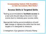 access skills targeted skills