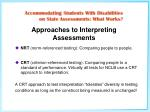 approaches to interpreting assessments