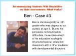 ben case 3