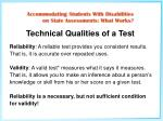 technical qualities of a test