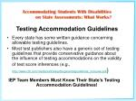 testing accommodation guidelines