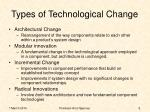 types of technological change