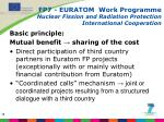 fp7 euratom work programme nuclear fission and radiation protection international cooperation