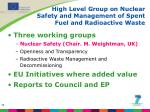 high level group on nuclear safety and management of spent fuel and radioactive waste
