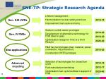 sne tp strategic research agenda