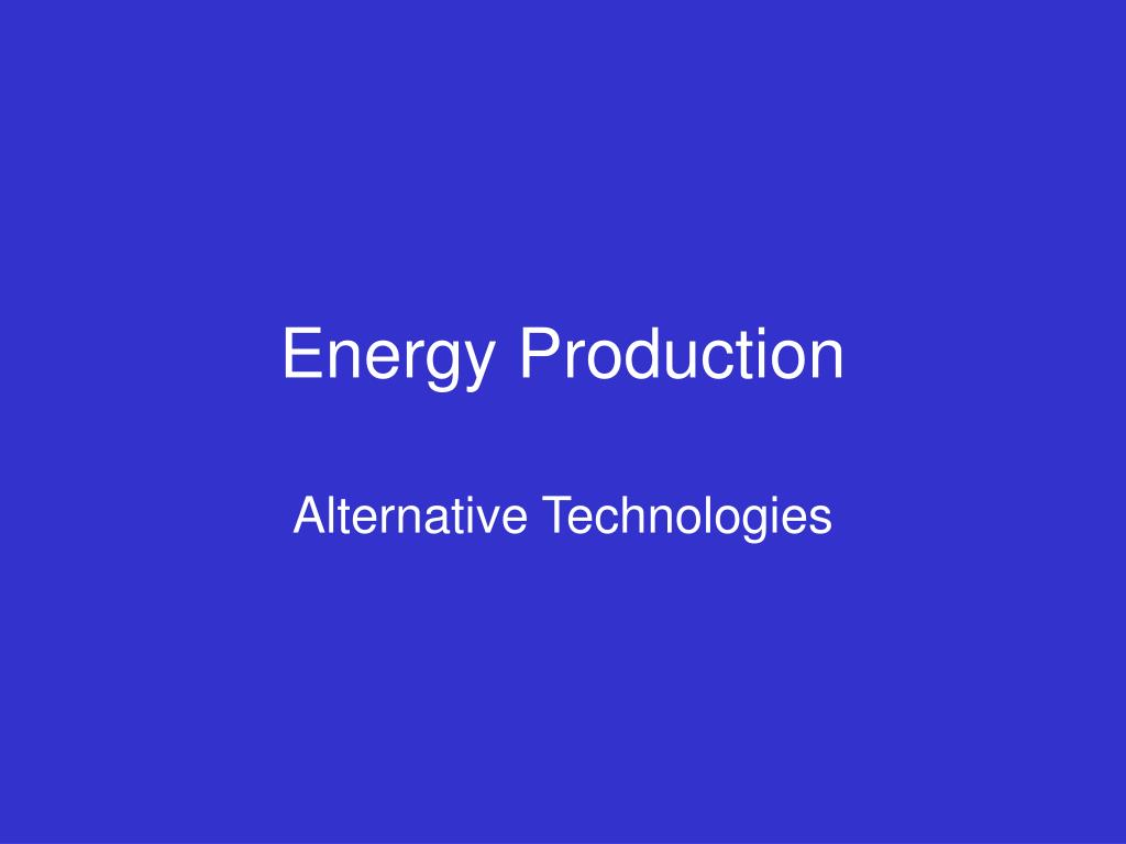 energy production l.