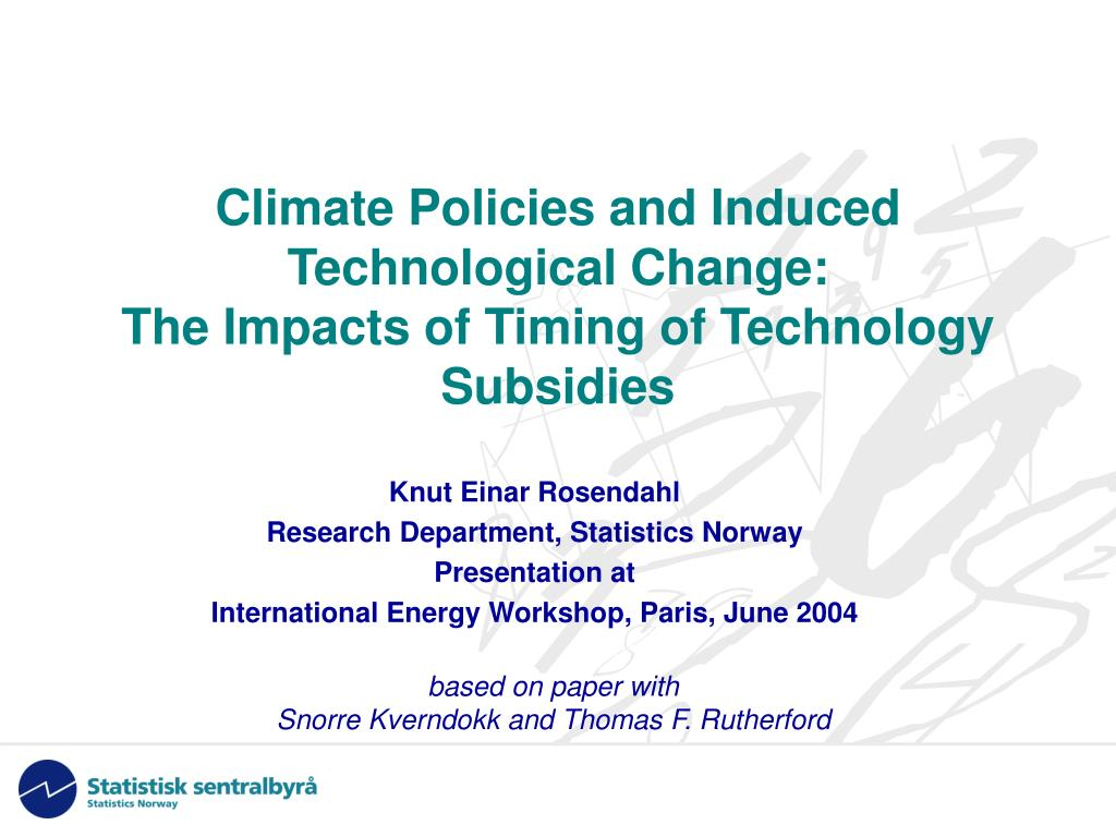 climate policies and induced technological change the impacts of timing of technology subsidies l.
