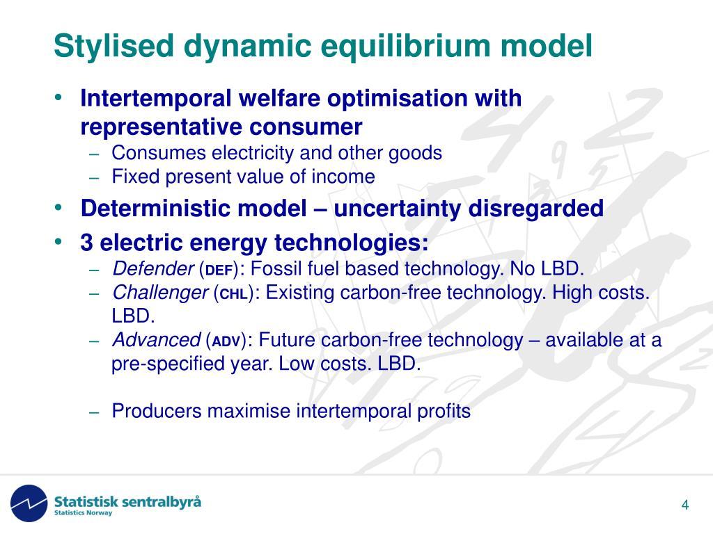 Stylised dynamic equilibrium model
