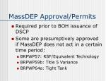 massdep approval permits