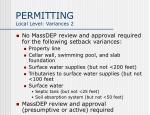 permitting local level variances 2