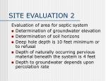 site evaluation 2